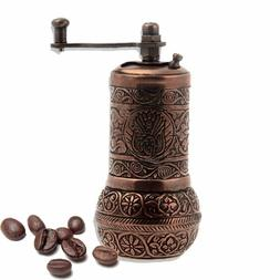 Turkish Handmade Copper Coffee Salt Pepper Spice Grinder Mil