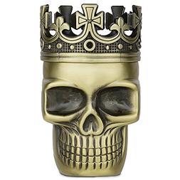 Golden Bell Upgraded Full Metal Spice Herb Skull Grinder - B