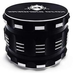 "Best Herb Grinder By Kozo Grinders Large 4 Piece 2.5"" Black"