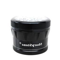 """Sharpstone V2 Cleartop Grinder Black 2.5"""" with a Cali Crushe"""