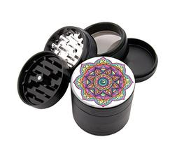 Wave Mandala - Custom Premium Herb Grinder - Four Piece with