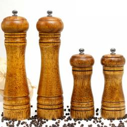 Wooden Oak Salt Pepper Spice Sauce Grinder Mill Blender 5''