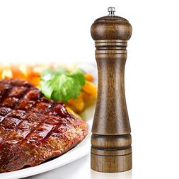 IEOVO 8-inch Wooden Pepper Mill, Natural