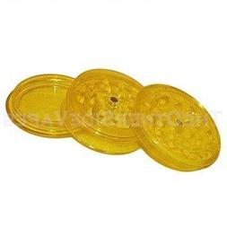 Yellow 3 Piece Magnetic Acrylic Herb Grinder