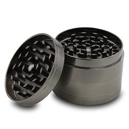 DCOU Zinc Alloy Tobacco Grinder/Herb Grinder with Magnetic L