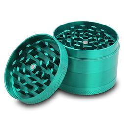 DCOU Zinc Alloy Herb Grinder with Magnetic Lid, Sifter and P
